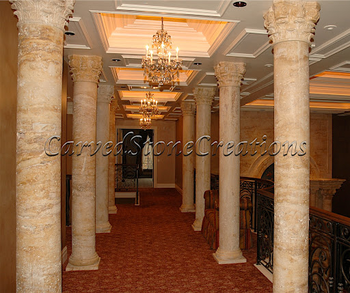 Interior Stone Columns : Custom architectural stone pieces carved creations