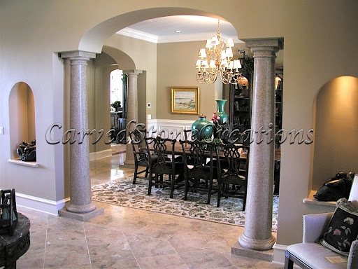 Interior Stone Columns : Add architectural interest to your home with columns