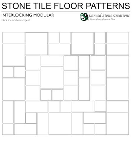 Interlocking Modular Stone Floor Pattern