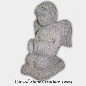 Small Kneeling Angel Finial, Giallo Fantasia