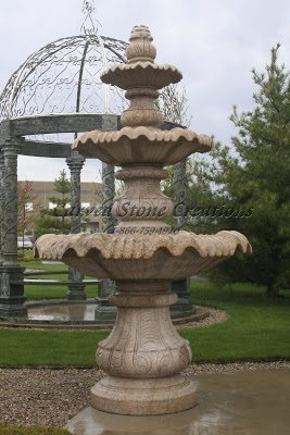 Three tier fountain large