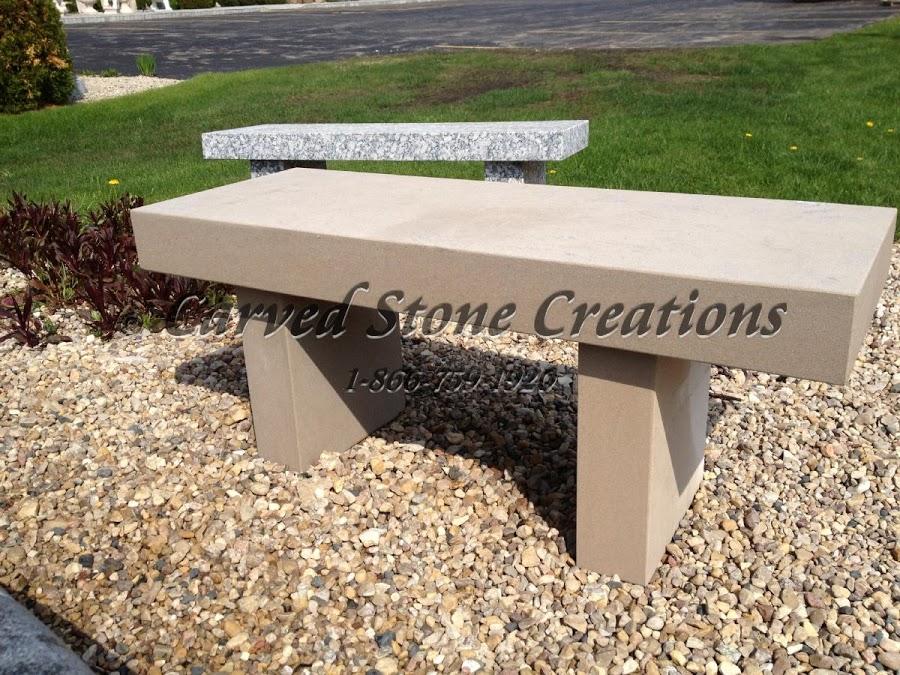 Limestone Garden Bench