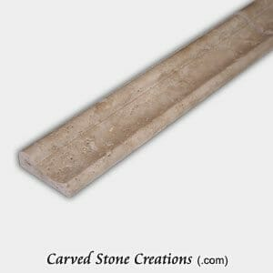 Tuscany Classic Travertine Honed/Unfilled Concave Rail W/ Bullnose Top