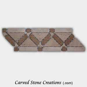 Noce/Tuscany Classic Travertine Triangular Border
