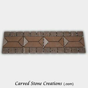 Tuscany Walnut/Sandstone/Tuscany Classic Diamond Center Border