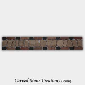 Rustic Noce/Rojo/Nero Tumbled Stone Chip Border