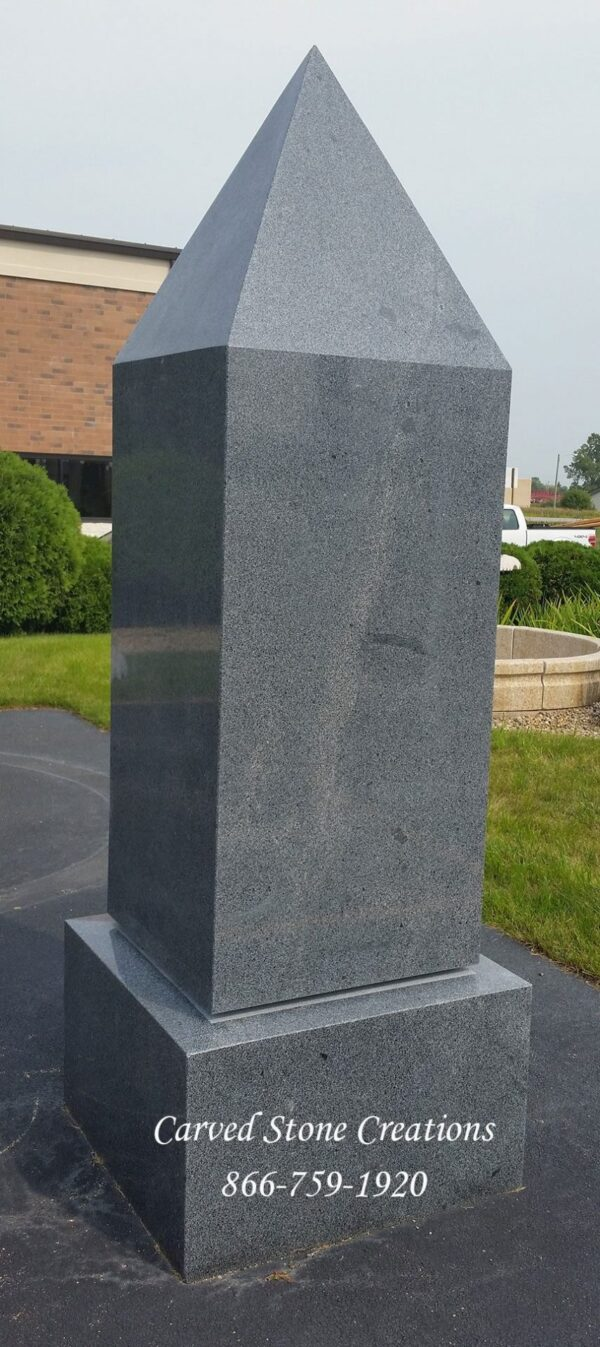 Obelisk Monument, 24 x 24 x H72 with base 30 x 30 x H18. Polish