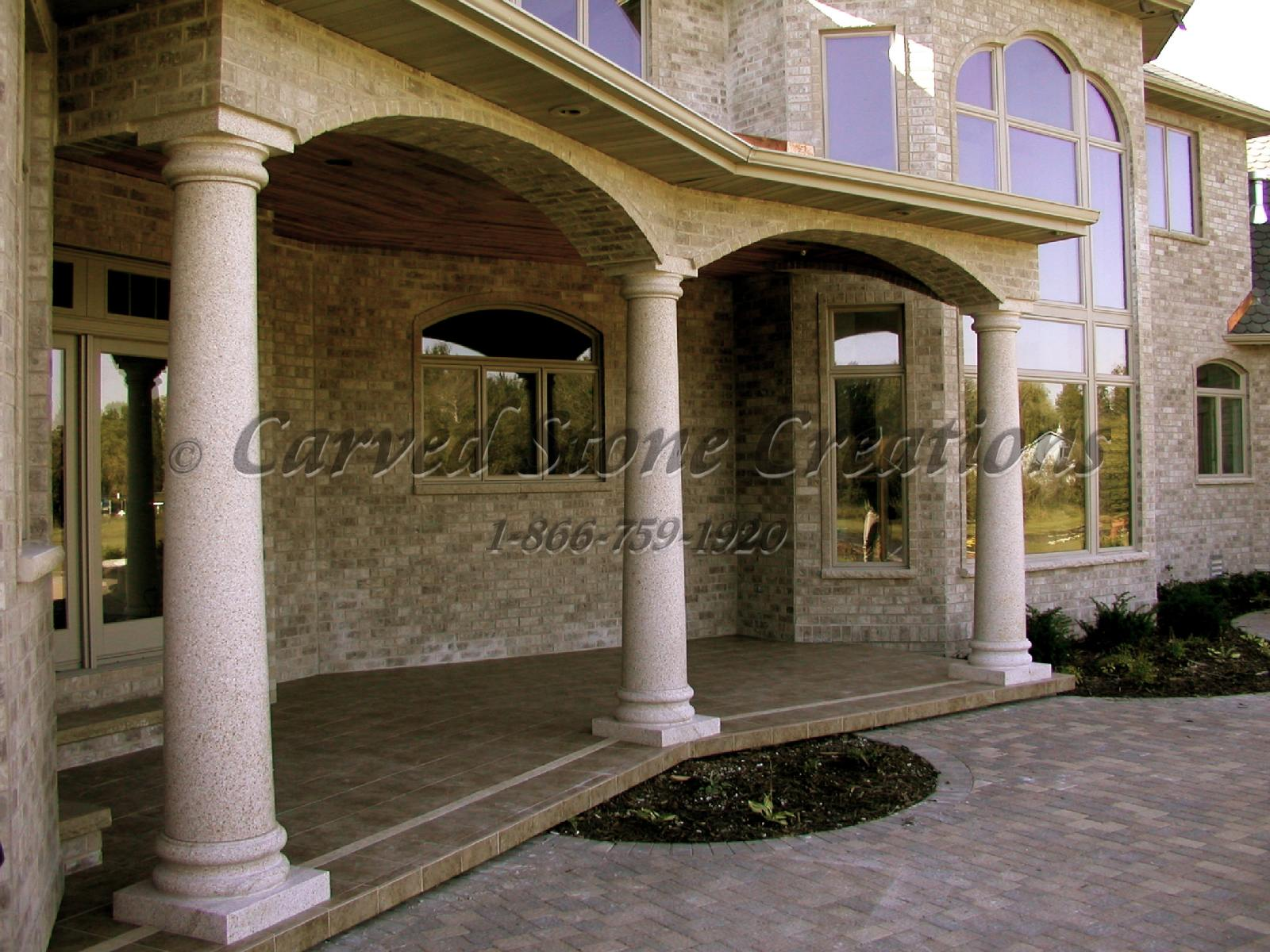 Outdoor Stone Columns