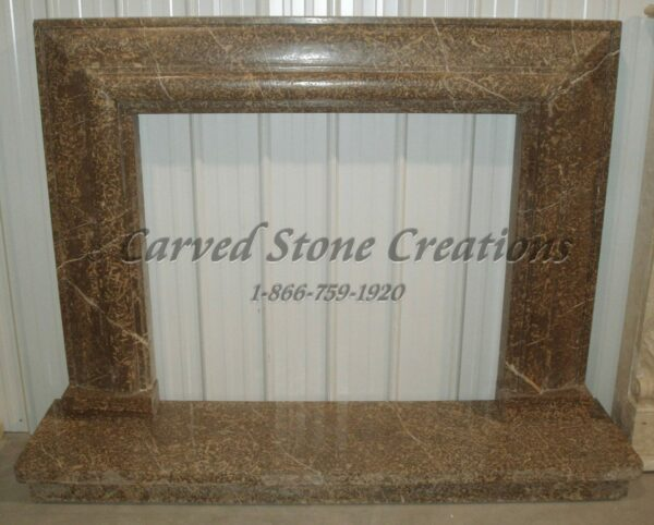 Coffee Brown Polished Marble Mitered Surround With Hearth