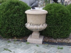 Simple Granite Urn Planter D18