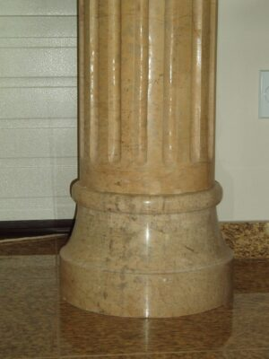Beige Venato Marble Fluted Tuscan Column, 8' 10""
