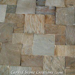6×6 Serengeti Gold Quartzite Tumbled Tile