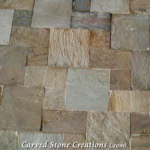 6×12 Serengeti Gold Quartzite Natural Cleft Tile