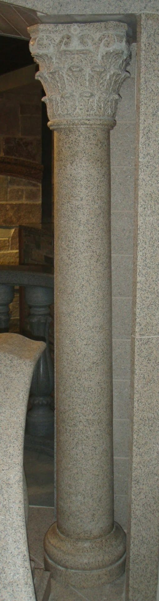 Giallo Fantasia Dark Granite Corinthian Column