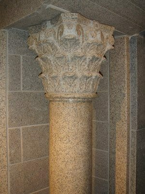 Giallo Fantasia Dark Granite Corinthian Column, 2' 4""