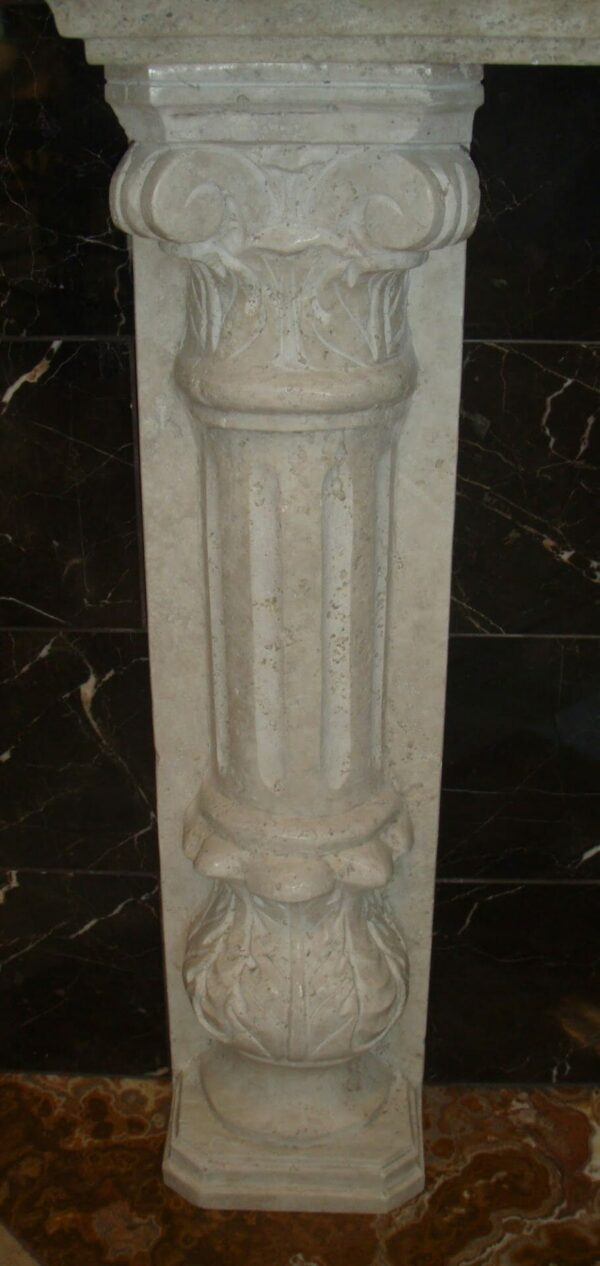 Corinthian Half Column in Tuscany Classic Travertine