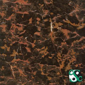 12×12 Portoro Marble Polished Tile