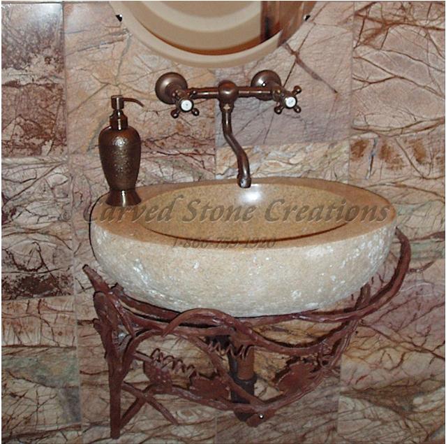 Rimmed Natural Boulder Sink