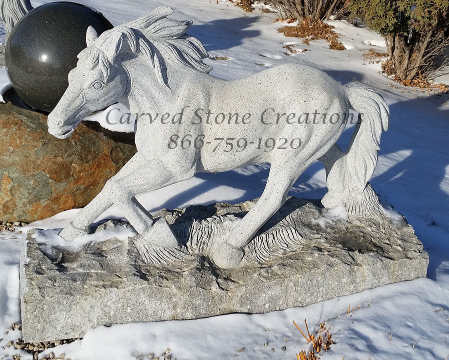 Running Horses Sculpture