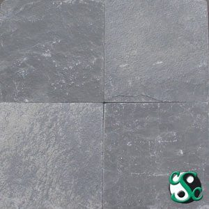 12×12 Grey/Green Slate Tumbled Tile