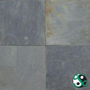 12×12 Fish Grey Slate Tumbled Tile