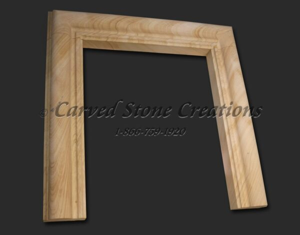 Simple Sandstone FP W/ Hearth 20xL69xH68 Woodgrain Sandstone