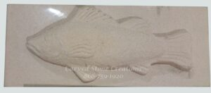 6x16x2.75 Perch Sandstone Relief Carved Block