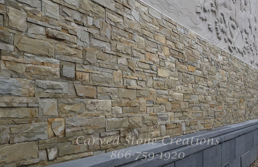 Exterior wall stone