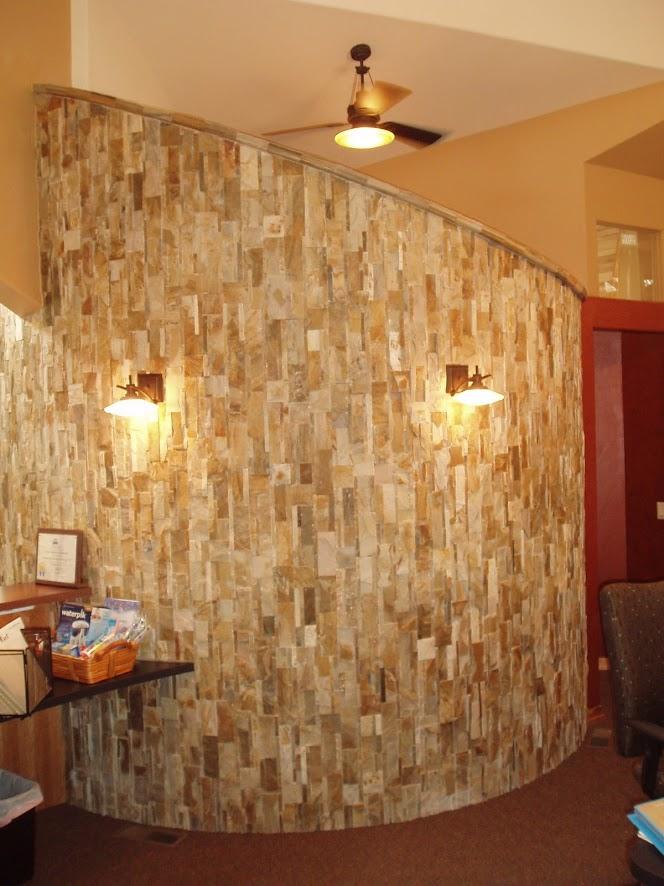 Sarengeti Gold Quartzite Stone Wall