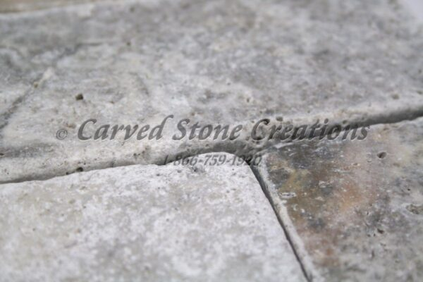 "24"" x 96"" x 2"" Silver Travertine Slab, Honed/Unfilled Finish"