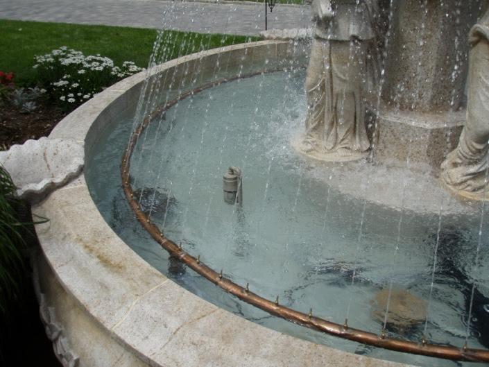Fountain spray ring
