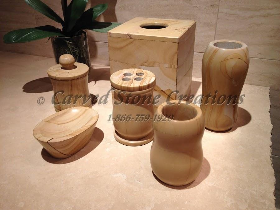 Stone bathroom accesories