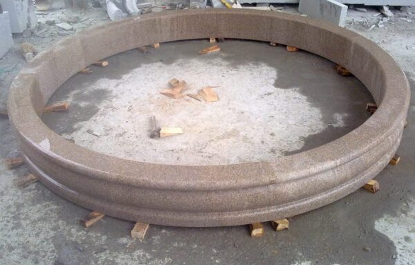 12' Round Tuscan Fountain Pool Surround, Giallo Fantasia