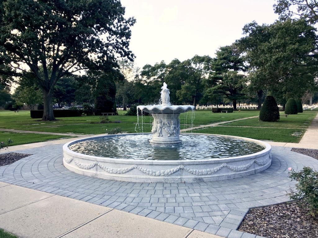 Finished granite fountain design