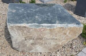 Cut Jade Boulders, Quarried in Wisconsin.