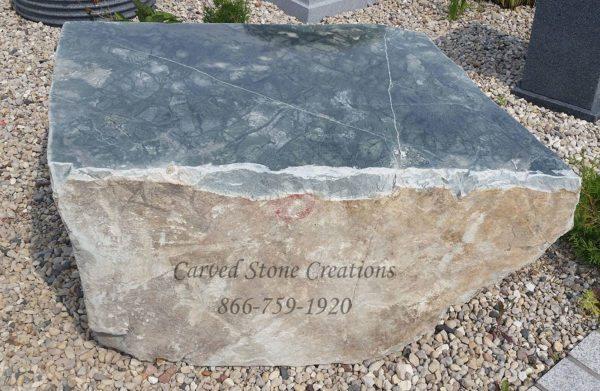 Cut Jade Boulders, Quarried in Wisconsin.