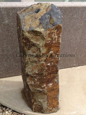 "Bubbling Basalt Column Fountain, H36"" x 12"""