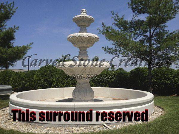 14' Round Cypress Fountain Surround, Golden Cypress Granite - RESERVED
