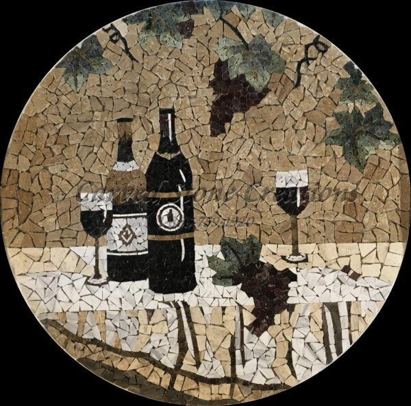 Wine Mosaic Medallion