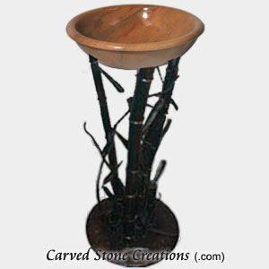 Bamboo Design Iron Pedestal Stand