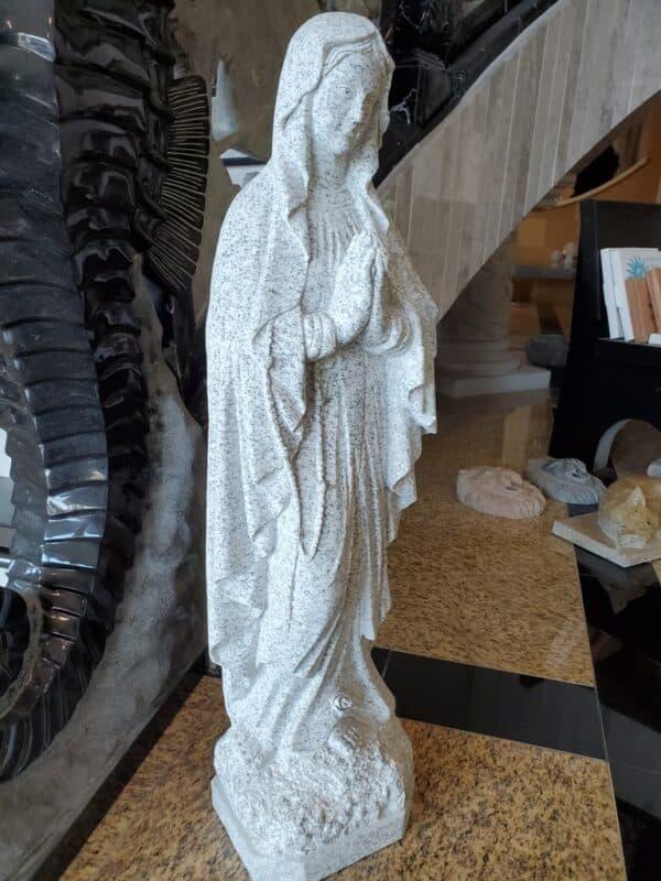 Mary Our Lady Of Lourdes California White Granite Csc
