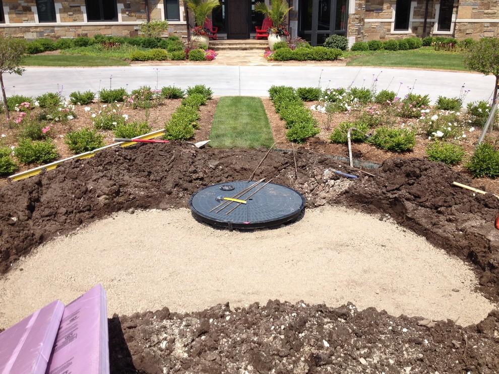 Excavating Fountain Site