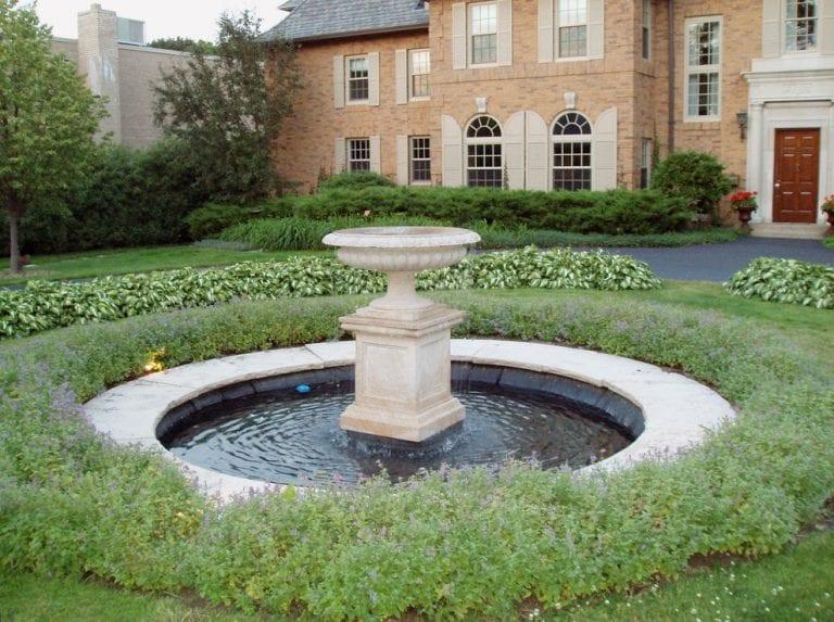 Garden fountains for home