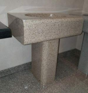 Giallo Fantasia Simplicity Pedestal Sink